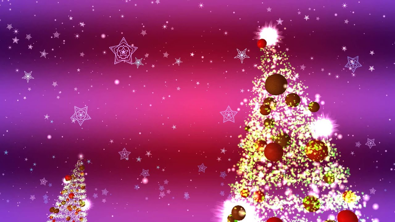 4K CHRISTMAS TREE And SNOWFLAKES ANIMATION BACKGROUND AA VFX