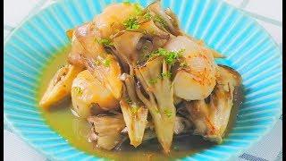プリプリのホタテと舞茸のマリアージュ(*´ω`*) あっさりしたバターの...