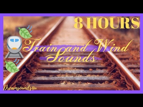 Long Train Sounds For Sleep : Night Train For 8 Hours (Black-screen)