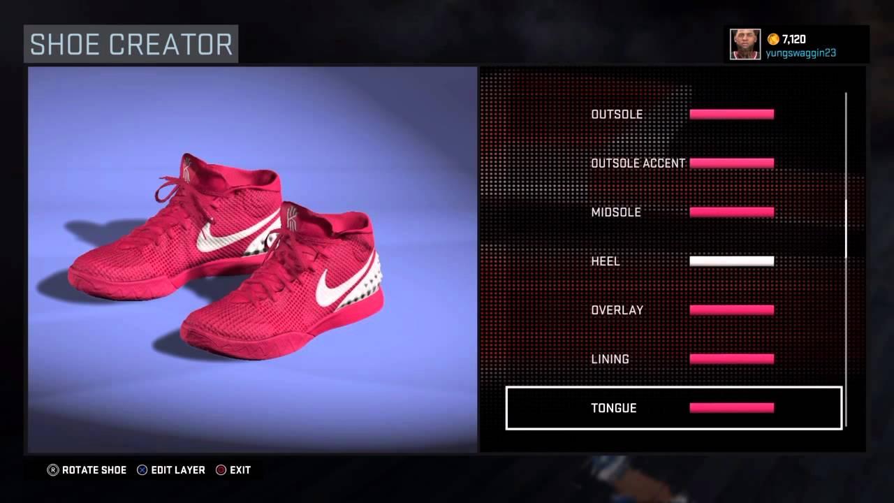 Nba 2K16 Shoe Creator Nike Kyrie Irving Think Pink