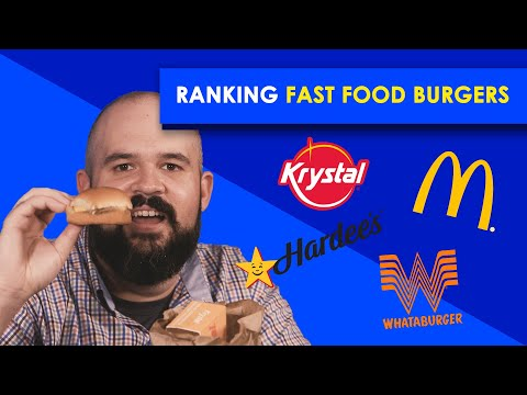 Ranking Fast Food Burgers–Bless Your Rank