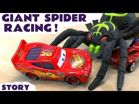 Disney Cars Hot Wheels Giant Spider Racing with McQueen Spiderman and Avengers Toy Cars TT4U