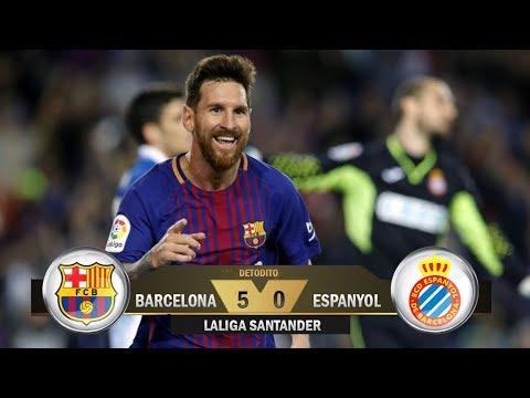 Fc Barcelona 5-0 RCD Espanyol / Laliga Santander 2017/18 Jornada 3/ Relato Miguel Simon