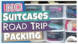 Family ROAD TRIP Packing || NO Suitcases || TheFamilyFudge