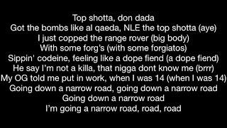 NLE Choppa feat. Lil Baby - Narrow Road (Official Music Video Lyrics)