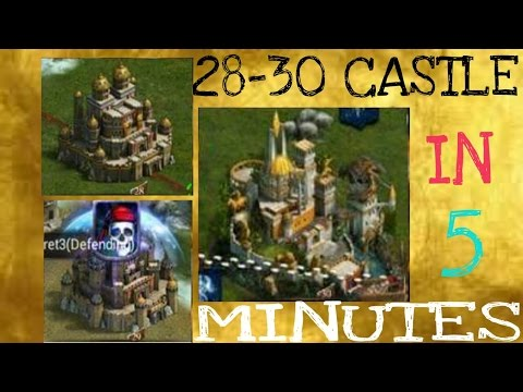 CLASH OF KINGS 28-29-30 CASTLE IN 5 MINS!!!