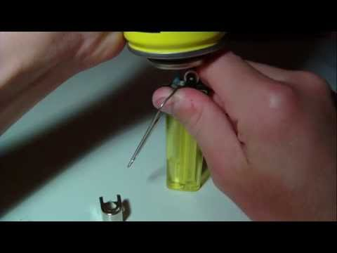 How to refill a disposable lighter
