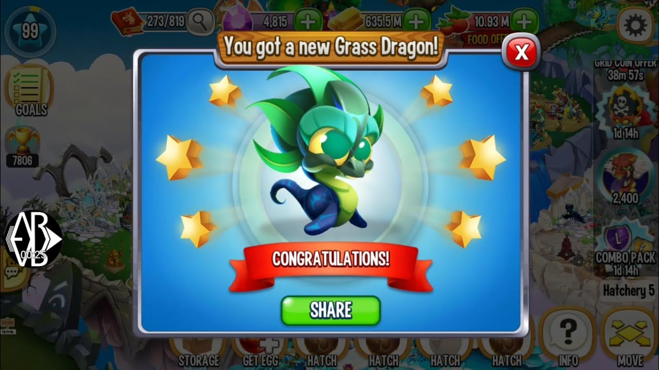 grass dragon dragon city