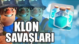 Klon Büyüsüyle Madenci, Valkyrie, Atıcı %100'lük Saldırıları - Clash of Clans