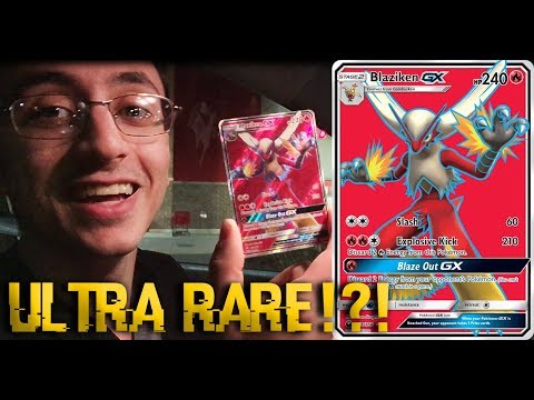 Pokemon Cards Blind Draw (ULTRA MEGA SUPER DUPER RARE BLAZIKEN GX!?!)