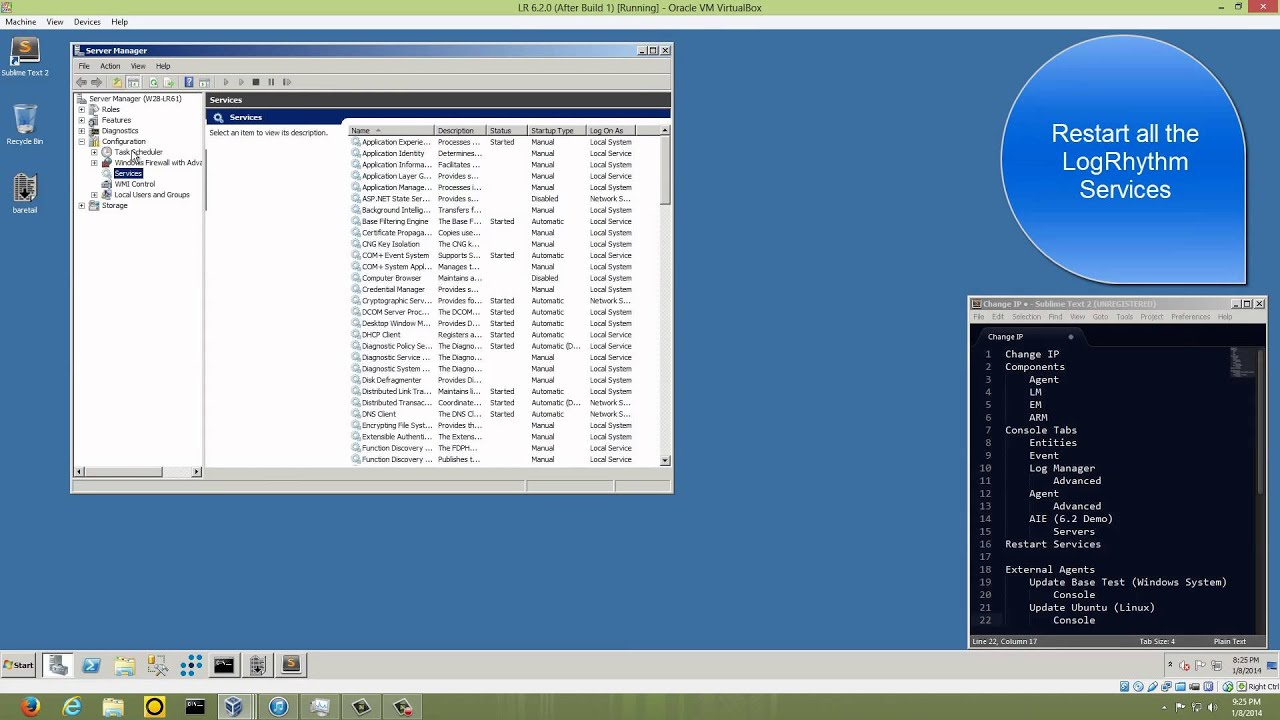 Tom's LogGarage XM Appliance IP Reconfiguration Demonstration for the  LogRhythm SIEM