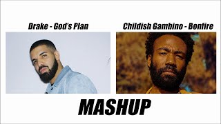 God's Plan vs Bonfire | Drake & Childish Gambino (Mashup by Col Friday)