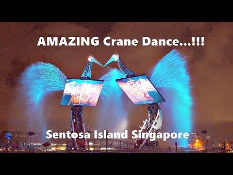 Crane Dance Sentosa Island Singapore