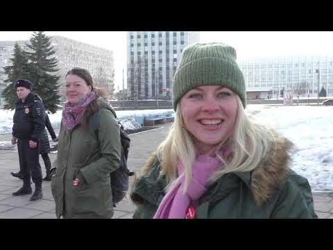 Протестное стояние на площади Ленина. Архангельск