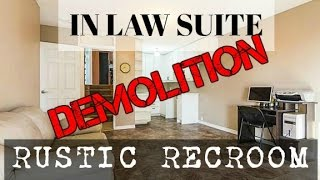 Icky In-law Suite to Rustic Recroom |Reno Ready Ep 4