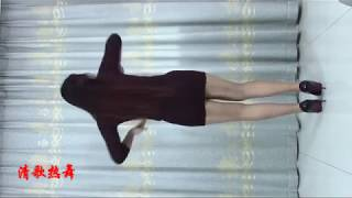 sexy Dance in brown dress and candid pantyhose