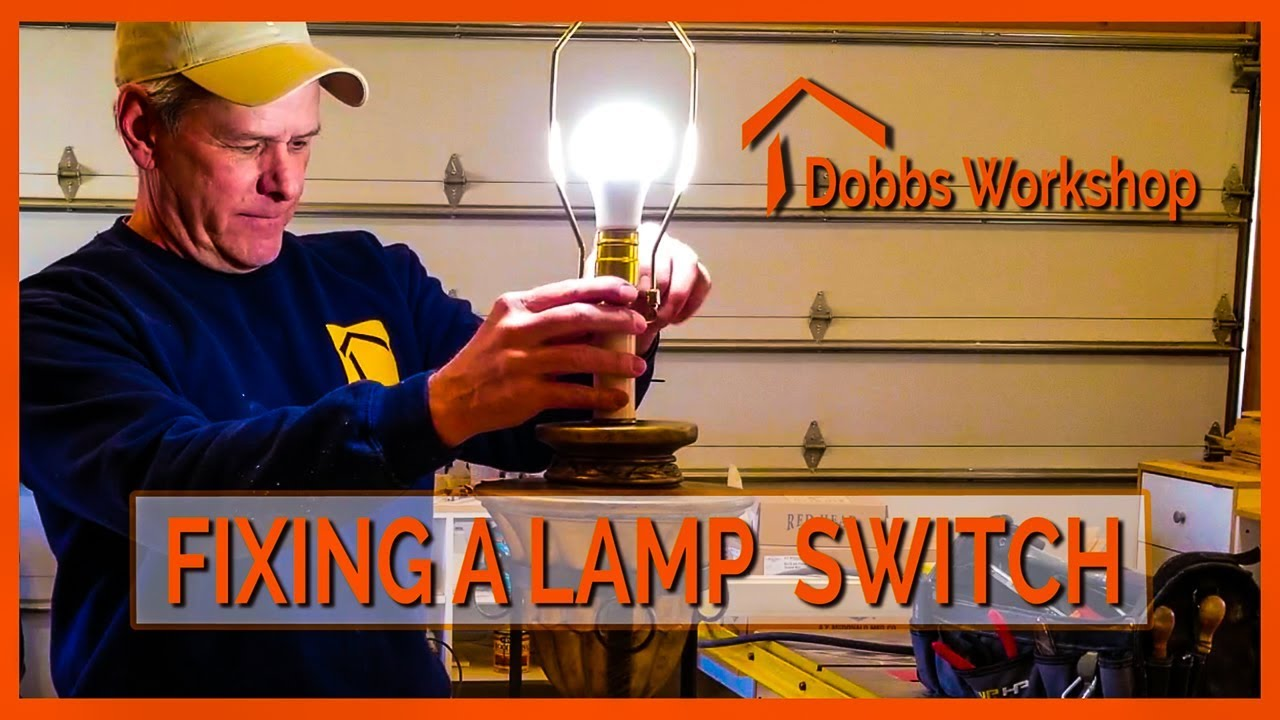 How To Replace A Lamp Switch - YouTube