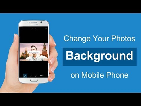 How to Change Photo Background and add Tex in Mobile (In ...