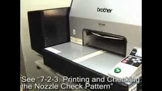 brother gt 541 printhead cleaning procedure