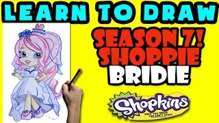 How To Draw Shoppies Shopkins: Bridie, Step By Step Shoppies Drawing Shopkins