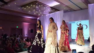los angeles india fashion week featuring sari palace models