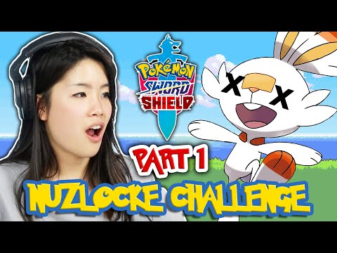 We Try The Nuzlocke Challenge In Pok?mon Sword and Shield | All 3 Starters