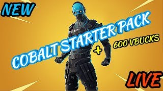 * NEW * COBALT STARTER PACK + Grind to 2K SUBS !! | Fortnite Battle Royale
