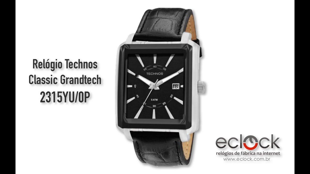 2abe4caae7a04 Relógio Technos Masculino Classic Grandtech 2315YU 0P - Eclock. Eclock  Relógios