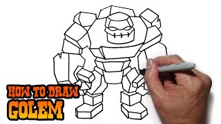 How to Draw Golem | Clash of Clans