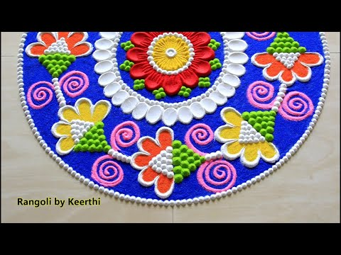 Beautiful Rangoli Designs With Colours L Rangoli For Tamil New Year L Rangoli Design L Kolam Muggulu
