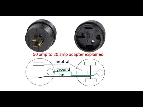 adapter plug 50 amp to 20 amp connecticut electric cesmad5020 rv plug  adaptor explained