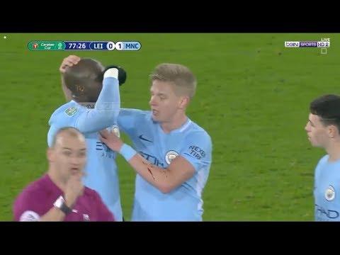 Serious Injury Eliaquim Mangala Manchester City VS Leicester City!!!!