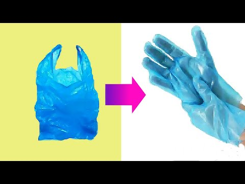 LIFE HACKS - HOW TO MAKE GLOVES USING PLASTIC BAGS