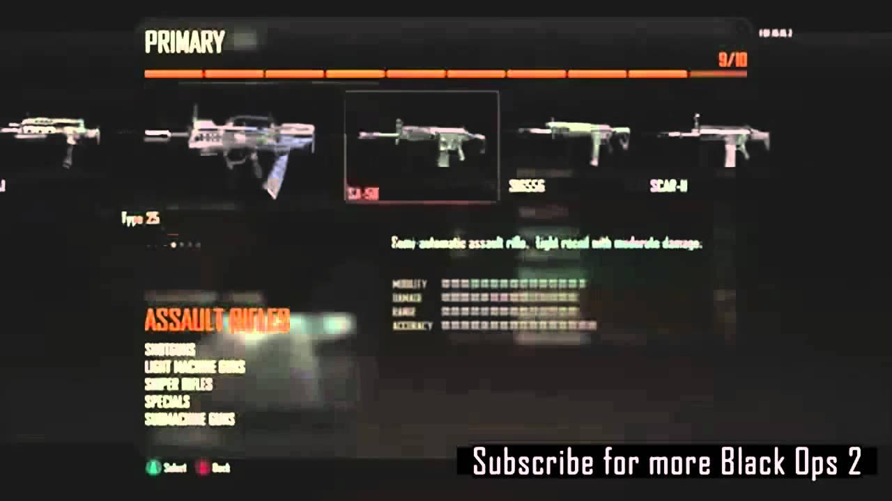 Black Ops 2 Create a Class - All Guns, Scorestreaks, Perks ...