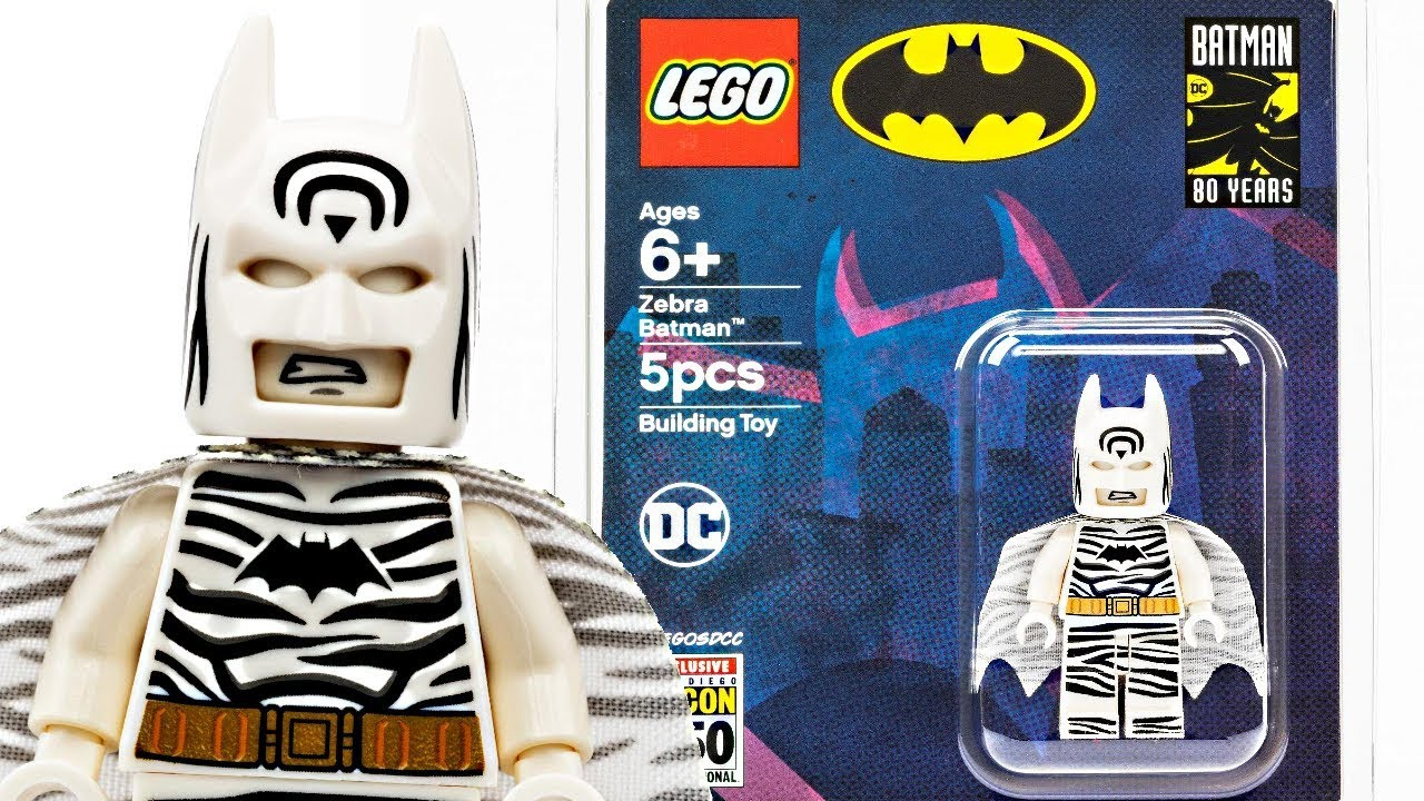 Exclusive LEGO Batman SDCC 2019 minifigure - Zebra Batman!