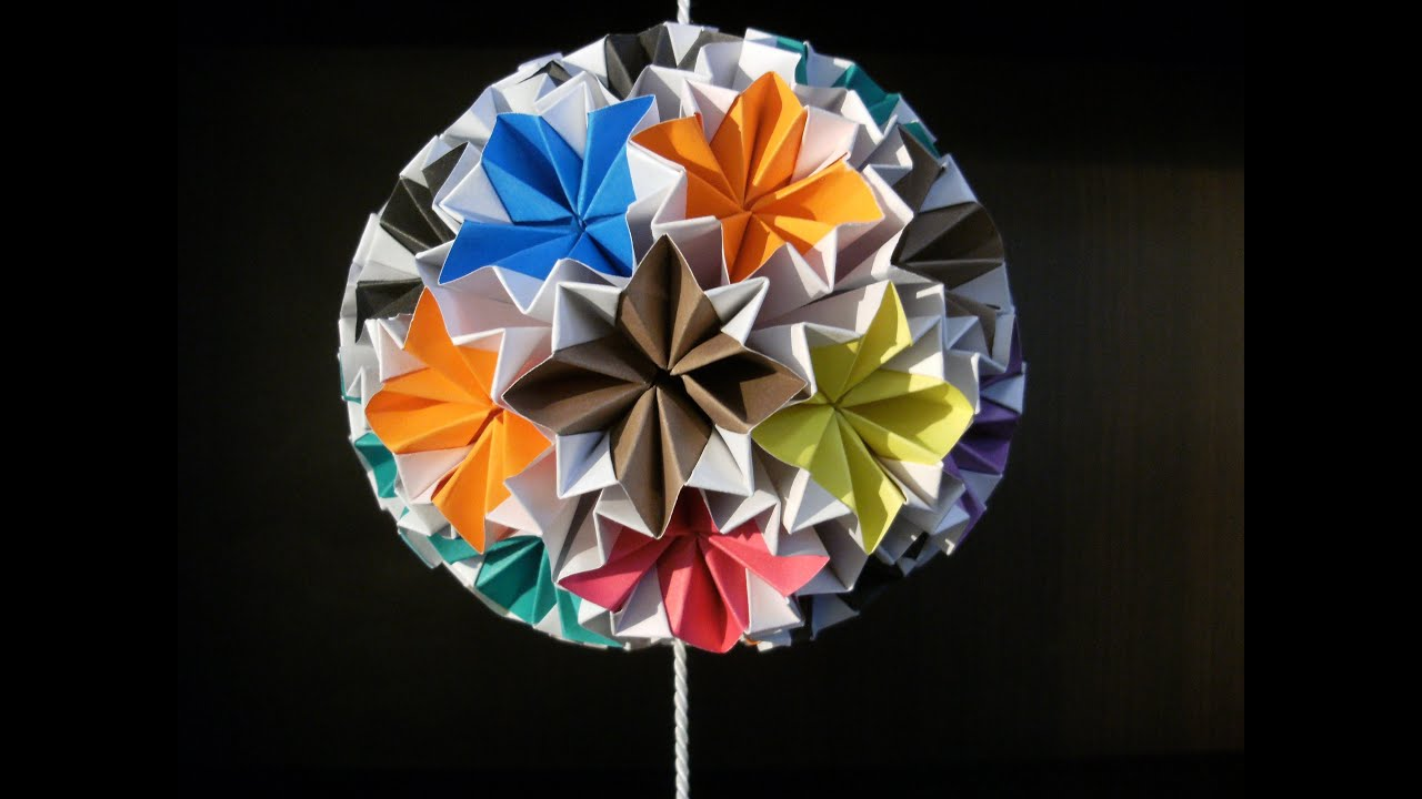 3d origami kusudama venus how to make youtube mightylinksfo
