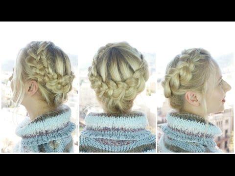 crown braid for medium length hair  hairs affairs  youtube