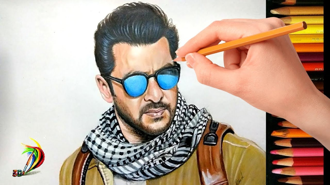 Drawing Salman Khan | Tiger Zinda Hai | Realistic Drawing Of Salman Khan Look In Tiger Zinda Hai ...