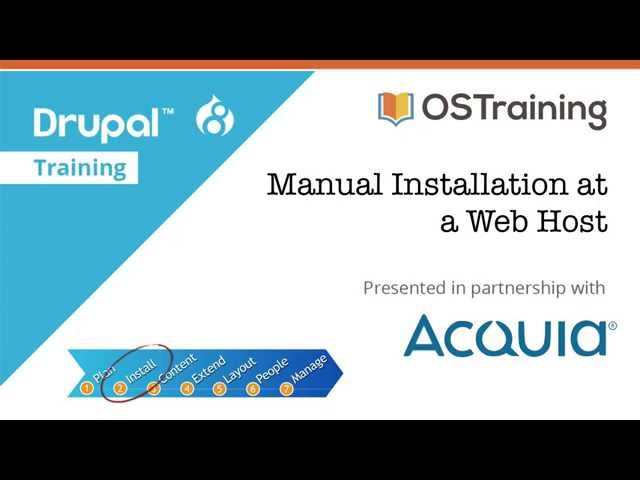 Drupal 8 Beginner, Lesson 7: Manual Installation at a Web Host