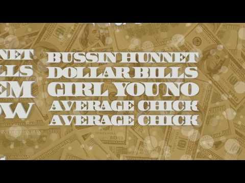 BUSSIN $100 Dolla Bills Lyrics Video by MULAN V