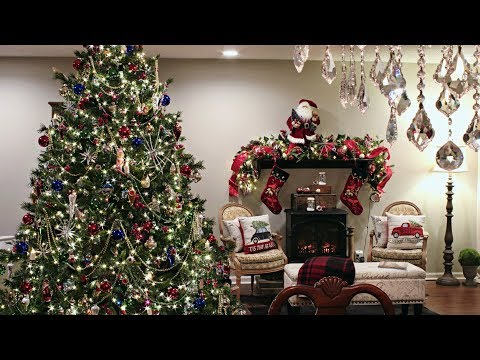 Classic Traditional Christmas Tree  - How To Decorate A Christmas Tree With Beads/Beaded Garland