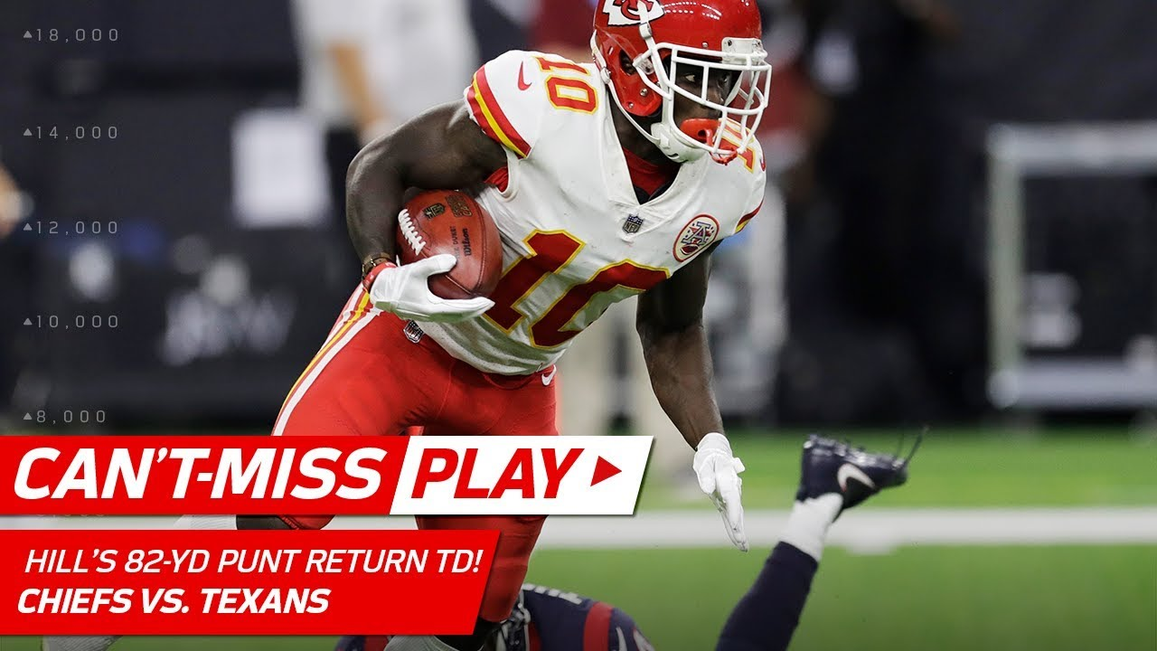 Tyreek Hill Blasts f for 82 Yd Punt Return TD