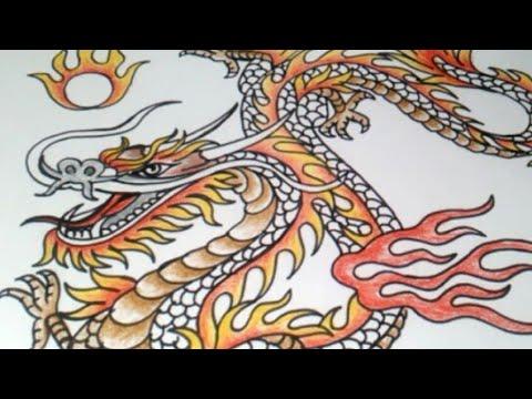 Kreasi Gambar Kereen Cara Menggambar Naga Tatto Naga Youtube
