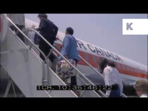 Early 1970s LAX Airport, Los Angeles, Passengers Board Plane, Century Boulevard Traffic