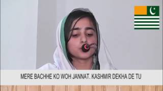 Beautiful Kashmir Poem Sing by collage Girl