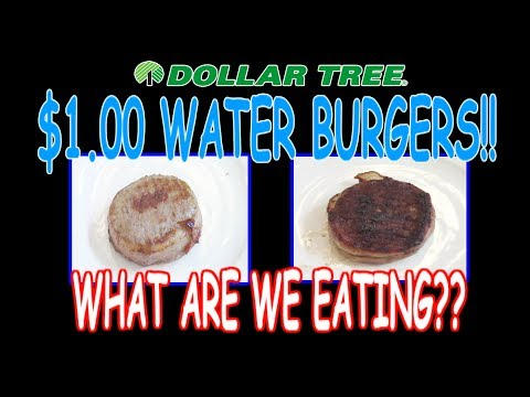 Dollar Tree ONE DOLLAR Water Burgers!! - WHAT ARE WE EATING??