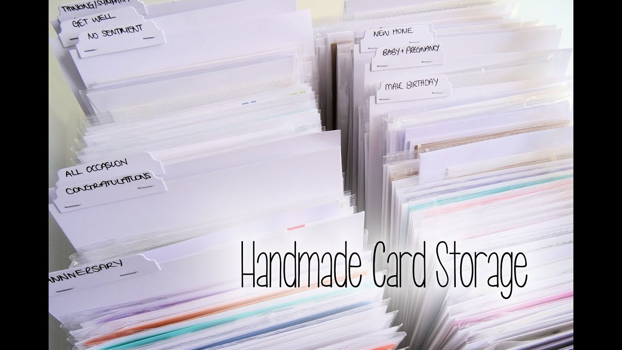 How i store handmade cards youtube how i store handmade cards m4hsunfo