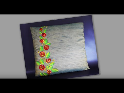 How To Do Texture Painting With Liquid Embroidery Colours Youtube