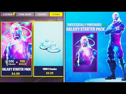 New Galaxy Skin Starter Pack In Fortnite New Update