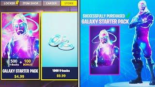 "NEW ""Galaxy Skin"" STARTER PACK in Fortnite! (NEW UPDATE)"